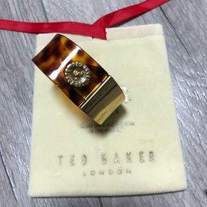 TED BAKER - tortoise/gold cuff bracelet